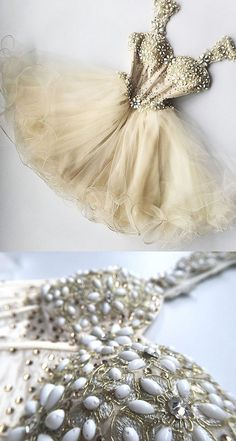 2020 Homecoming Dresses Straps Tulle With Beading Short/Mini A