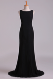 Scoop Mermaid Prom Dresses/Evening Dresses Zipper Back