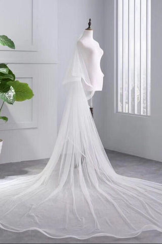 Princess Cheap Tulle Long Length Vintage Wedding Veils Bridal Veils SME181