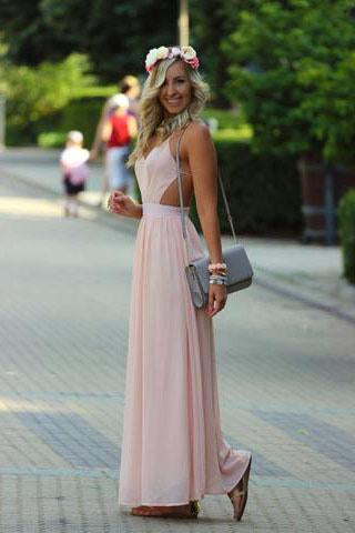 Pd582 High QualityCharming Prom Dress Chiffon Prom Dress Brief Backless Prom Dresses uk