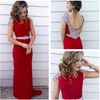 Long Prom Dress Red Prom Dress Party Chiffon Prom Dress Sheath Evening Dress Gown JS706
