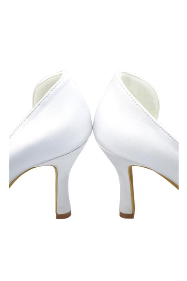 Classy White Close Top Handmade Nice wedding Shoes JS0003