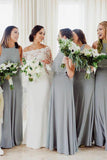 Bohemian Chiffon Halter Sleeveless Floor Length Bridesmaid Dresses