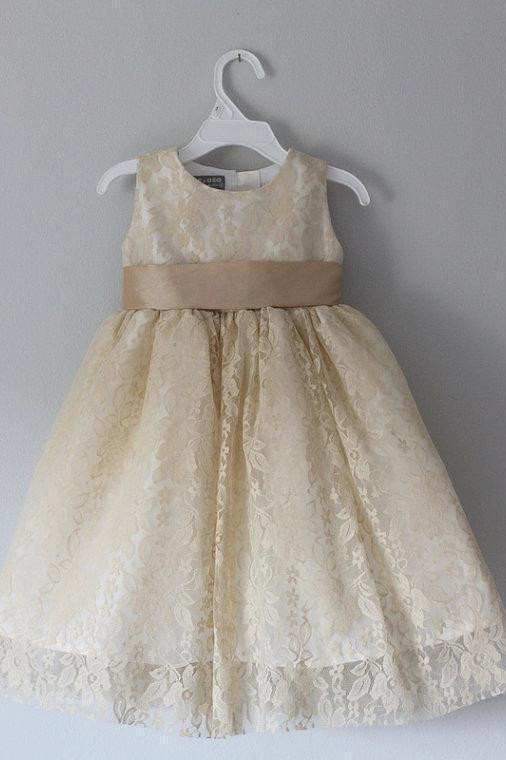 Princess A Line Lace Scoop with Bow Cheap Rustic Flower Girl Dresses JS100