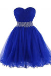 Modern Sweetheart Knee Length Royal Blue Homecoming Dress JS326