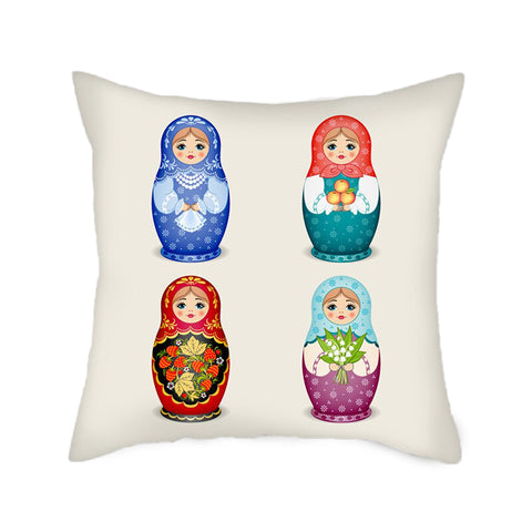 Coussin Matriochka Multicolore