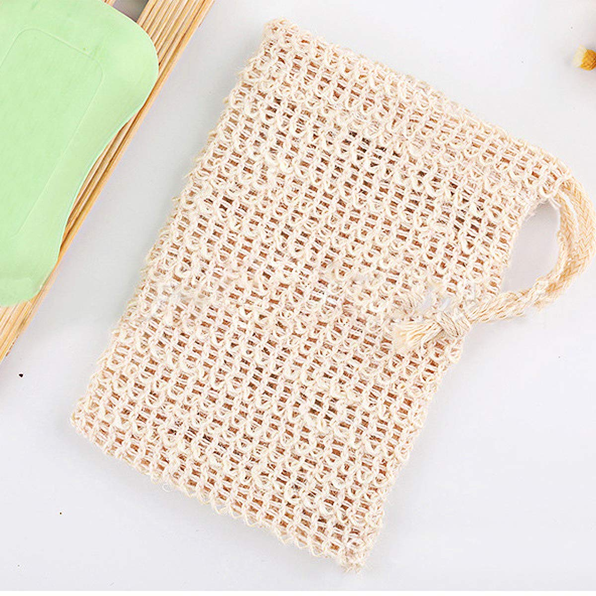 Natural Sisal Soap Saver Bag Pouch