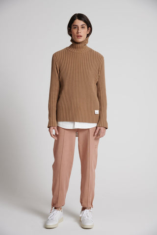 Turtleneck Pullover Faro Brown