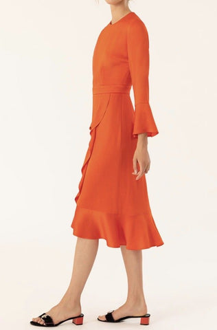 Ivy & Oak Orange Frill Dress