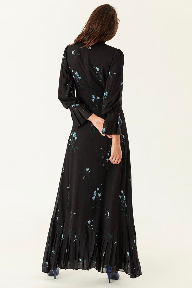 Ivy & Oak Flower Maxi Dress Black