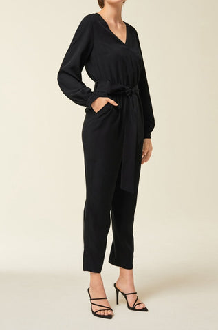Cropped Jumpsuit Black