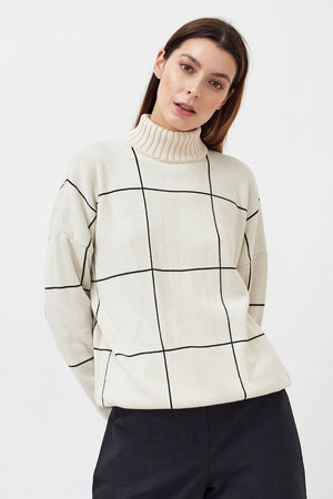 Checked Pullover