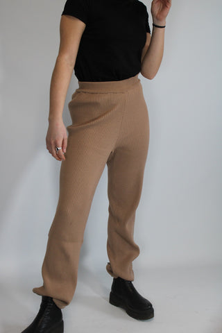 Knit Pants Camel