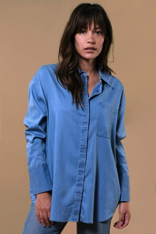 Kuyichi Mia Tencel Shirt Light Blue