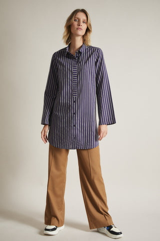 Lanius Striped Long Blouse