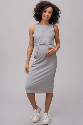 Maternity Dress Grey