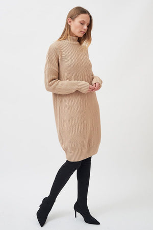 Milavert Knit Dress Sand