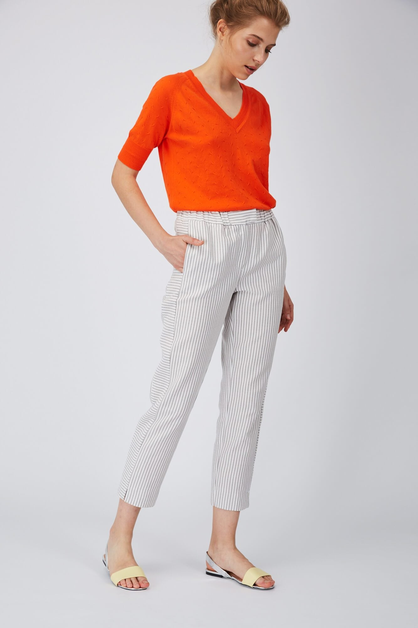 Nina Rein Striped Trousers