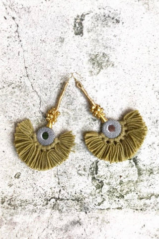 Diya Earrings Pistachio