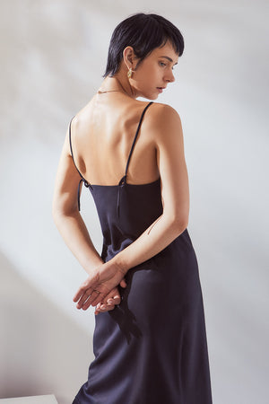 Kowtow Black Slip Dress