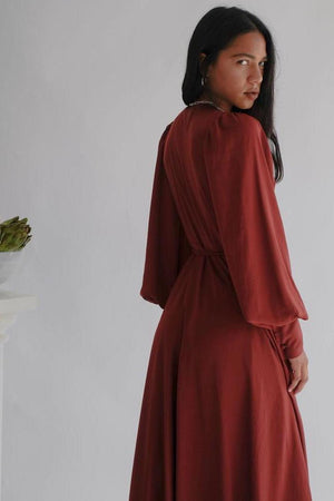 Oh Seven Days Wrap Dress Merlot