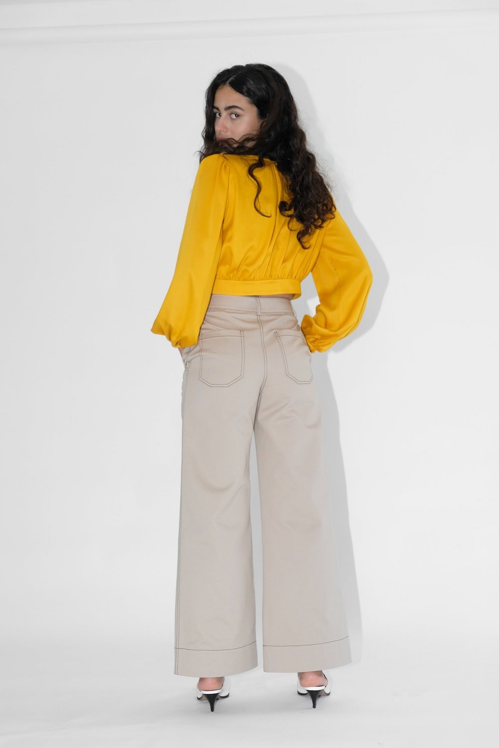 High Kick Trousers Beige