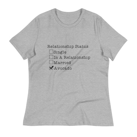 In A Relationship Avocado Black Print Supersoft T-Shirt