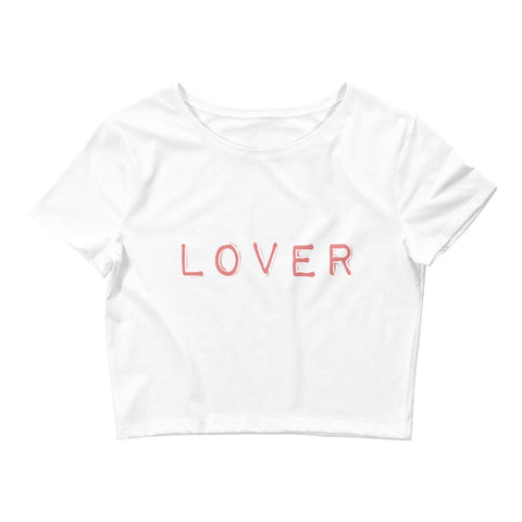 Lover Front Fighter Back Women's Crop Tee