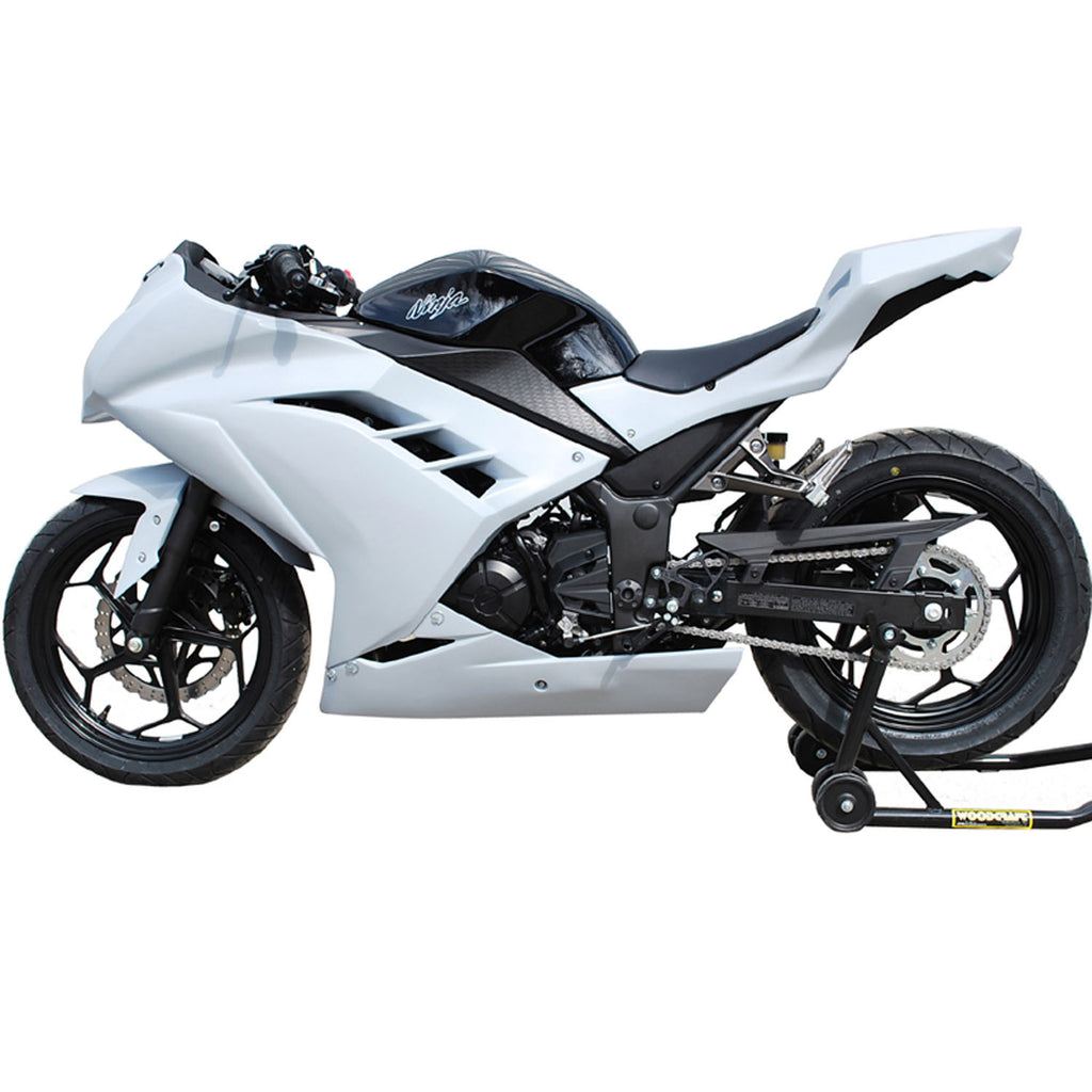 Kawasaki Ninja 300 2013-2017, Abs Plastic Non Painted Sportbike Deals AZDK312UNP Unpainted Body Kit