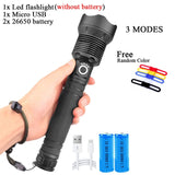 ZHIYU Powerful LED Flashlights XHP 70 50 Super Bright Flash Lights USB Rechargeable Zoom Tactical Torch Camping Searching Lamp