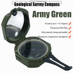 Geological Military Multifunctional Metal Compass- Lensatic, Fluorescent, Waterproof and Shakeproof for Geological Exploration