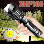 Super XHP100 Most Powerful LED Flashlight USB Rechargeable LED Torch XHP90 Tactical Flashlight XHP50 Hand Lamp 18650 Flash Light