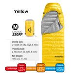 Naturehike CW400 Sleeping Bags Ultralight Camping Equipment Backpacking Compact Waterproof Warm Goose Down Camping Sleeping Bag