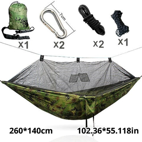 Camping Rede Hammock Fabric Outdoor Hanging Bed