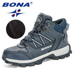 BONA 2020 New Designers Brand Outdoor Hiking Shoes Men Anti-skid Trekking Walking Shoes Man Camping Sports Footwear Masculino