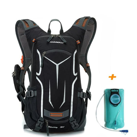 Waterproof Camping Backpack +2L Water Bag