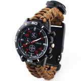 Multi-functional Outdoor Camping Survival Watch with Compass