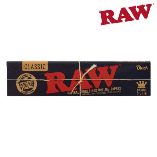 RAW BLACK KING SIZE SLIM - Rolling Papers