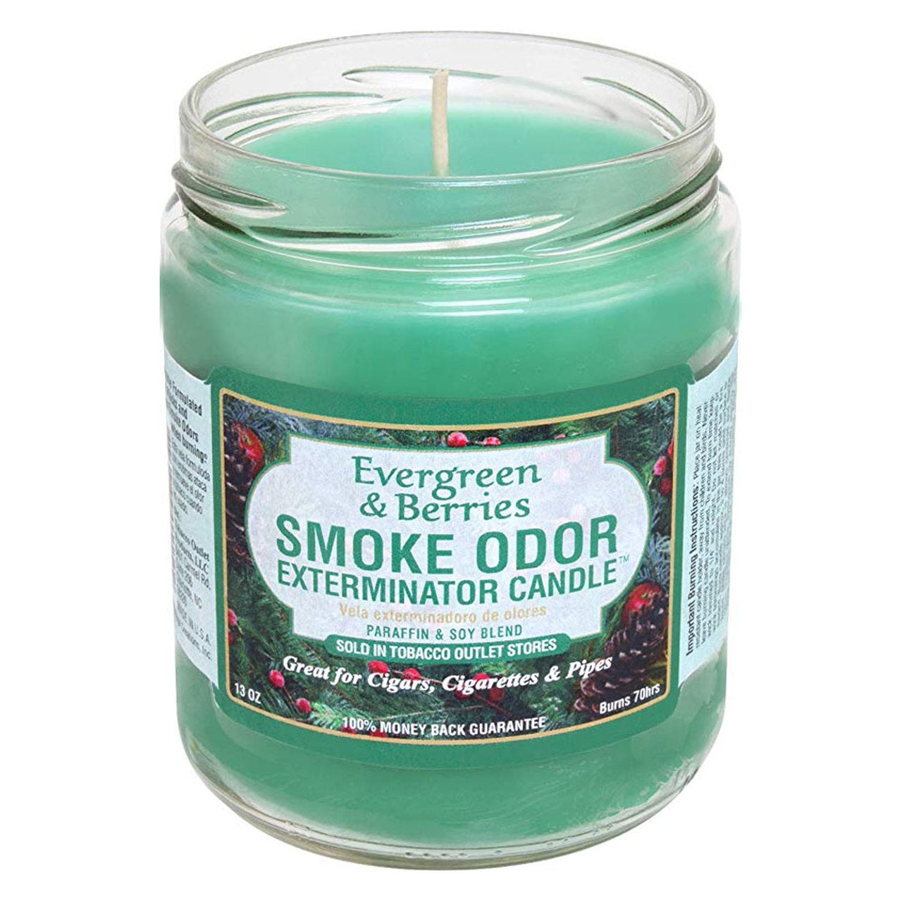 Smoke Odor 13oz. Candle - Evergreen & Berries