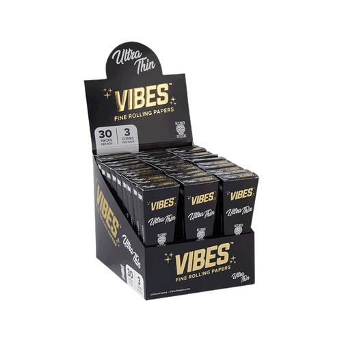 Vibes - Ultra Thin - King Size Cones - 3Pcs