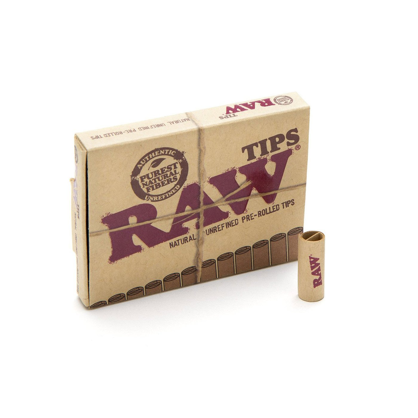Raw Unbleached Pre-Rolled Tips