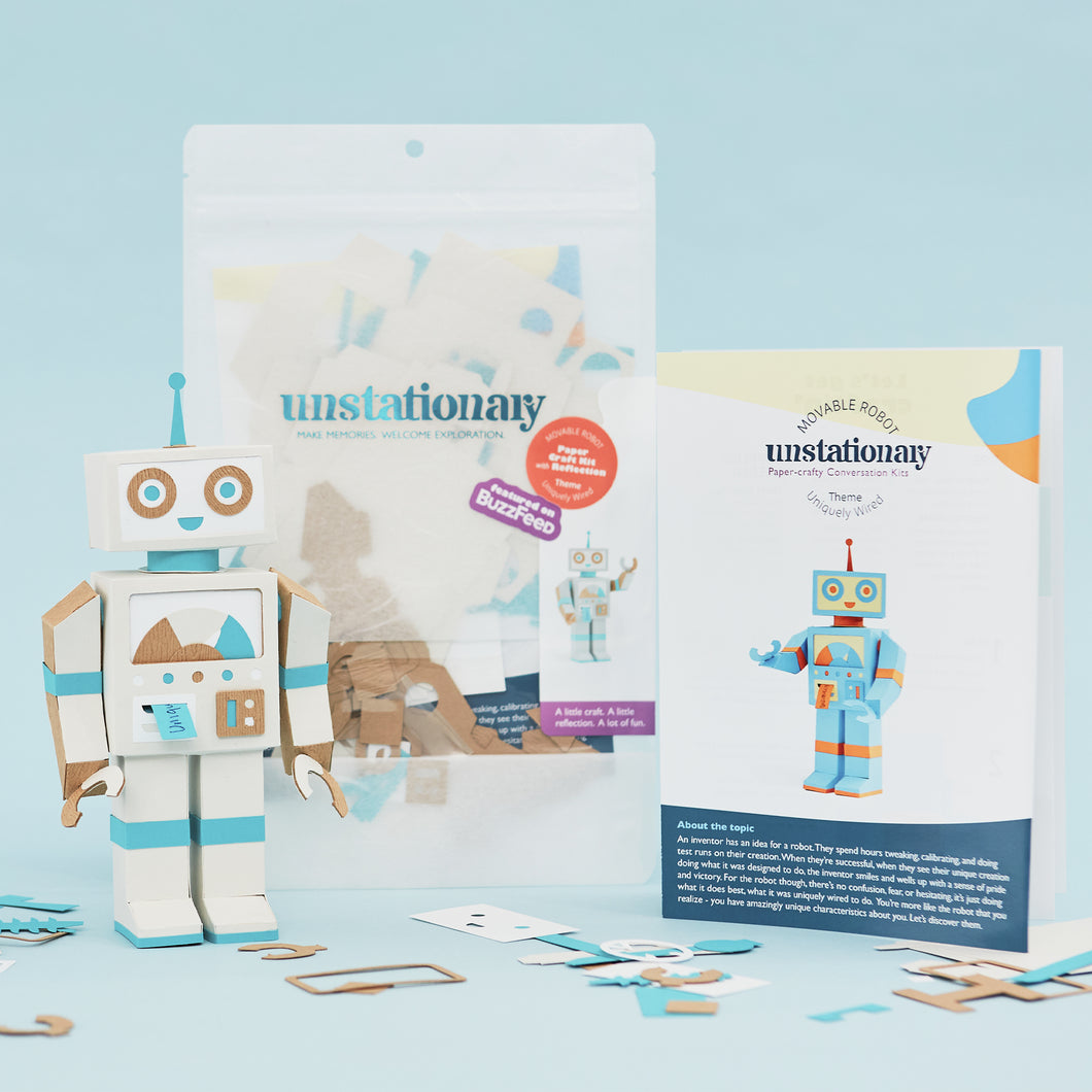 Movable Robot: Journaling Paper-Craft Kit - Topic: Uniquely Wired