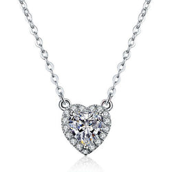 Haol White Sapphire Heart Brilliant-cut Necklace