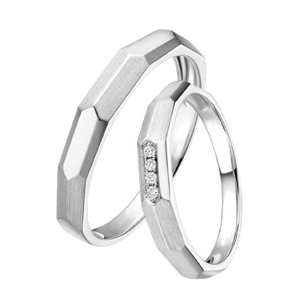 Plated Arrow Sterling Silver Couple Rings