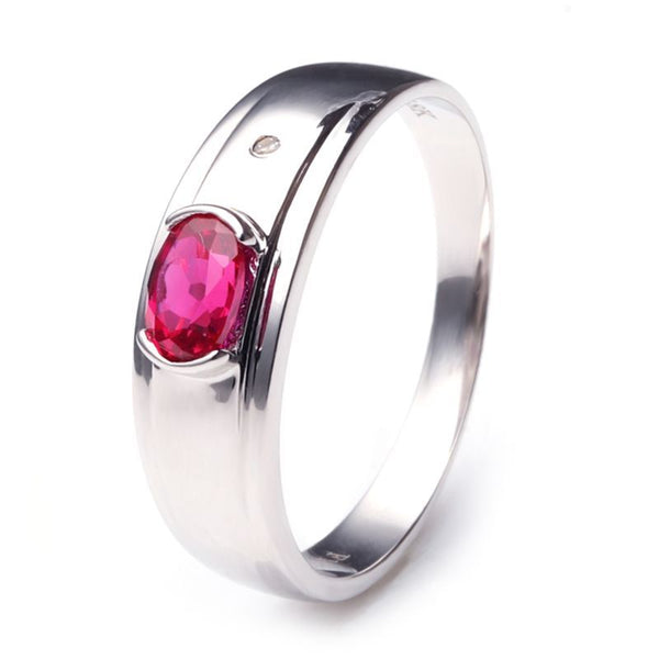 Ruby 925 Sterling Silver Wedding Bands