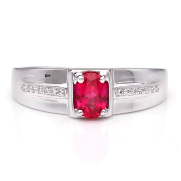 Ruby 925 Sterling Silver Classic Wedding Band For Him