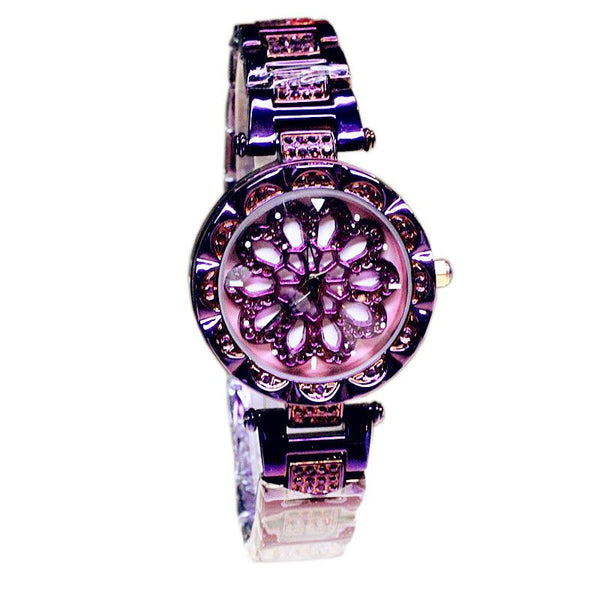 360 Degree Rotating Dial Watch with Chrome Hearts Design