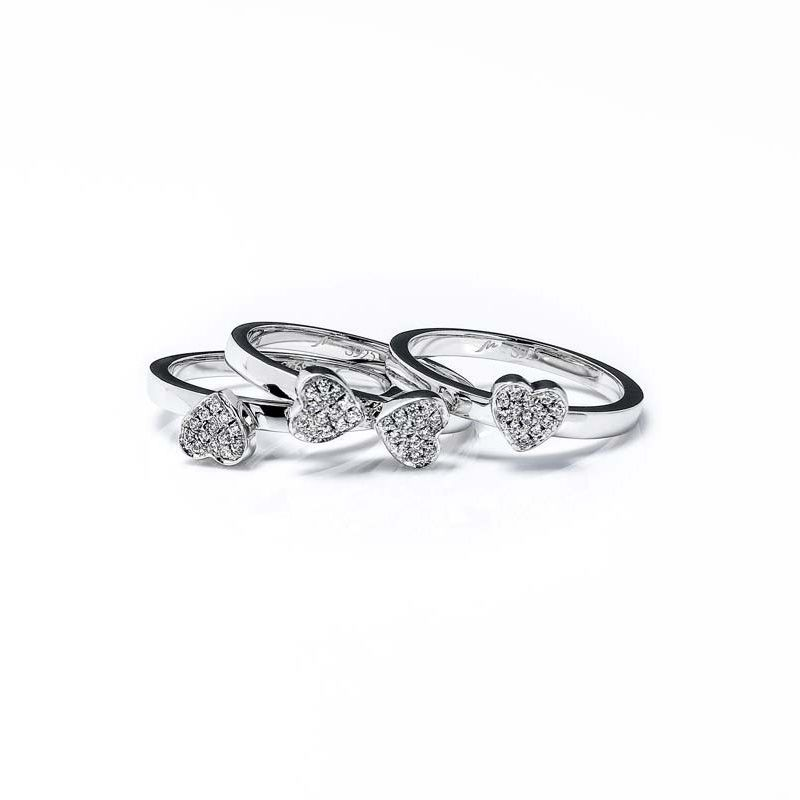 Four Leaf Clover Women's White Sapphire Wedding Band