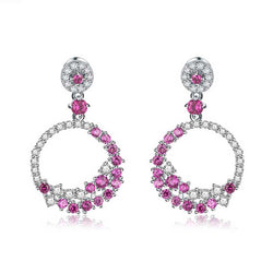 Fashion Garland Hoop Shapprie Earrings For Ladies
