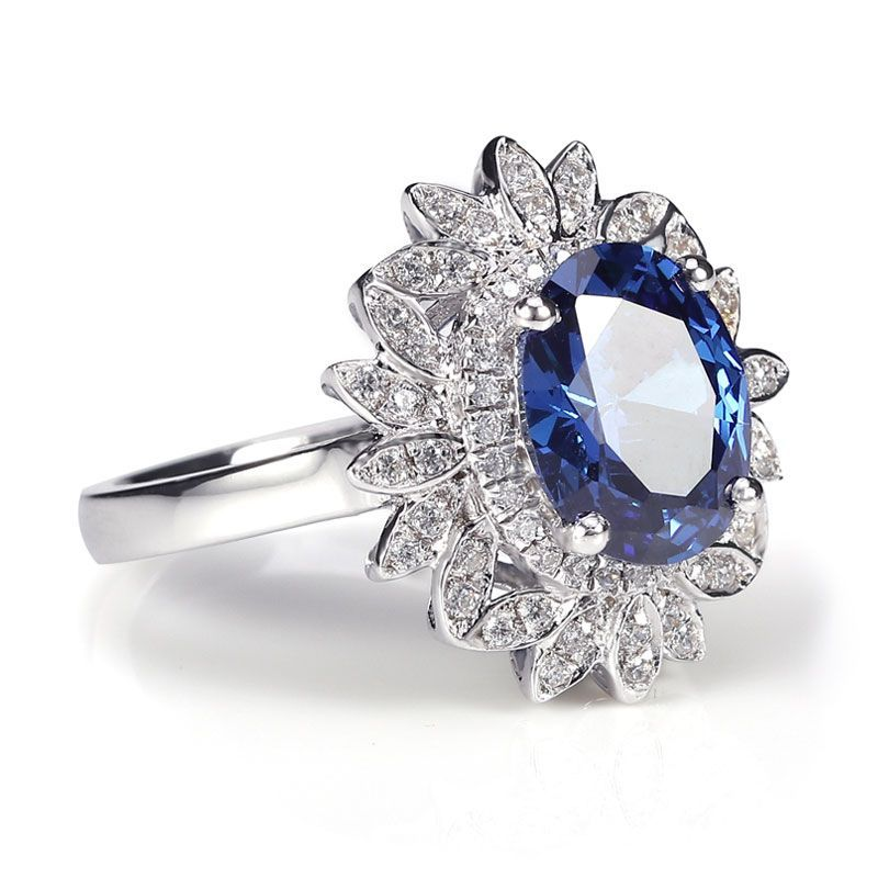 Elegant Oval Marquise Halo Ring